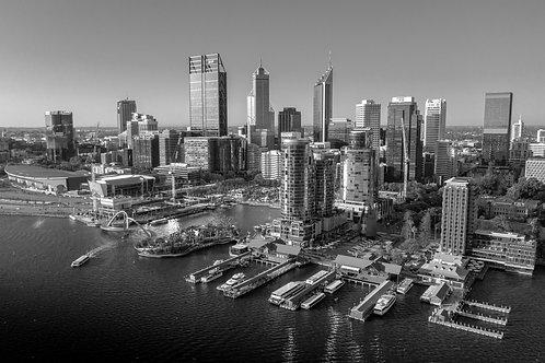 Perth City in B&W