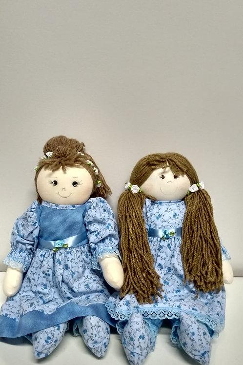 Boneca Azul Cabelos Longos AFMA