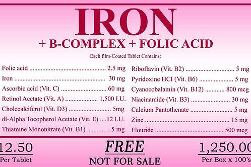 Iron (Folic Acid) 100 Tablets