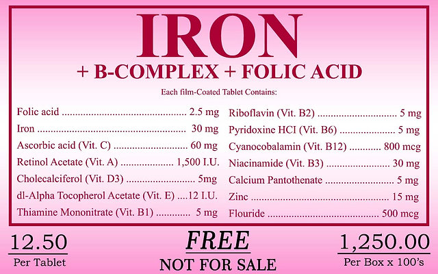 Iron (Folic Acid) 100 Tablets