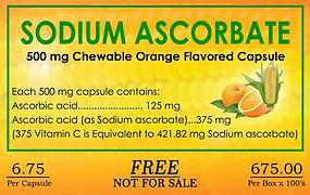Sodium Ascorbate, kornC, chewable vitamin C, BIBO, Myzkeene