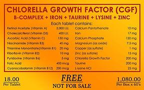 CGF, Chlorell Growth Factor, Cherifer, BIBO, Myzkeene