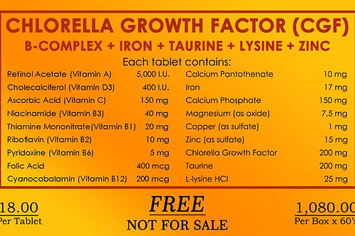 Chlorela Growth Factor CGF - 60 tablets