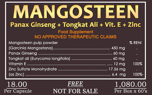 Mangosteen 60 Tablets worth