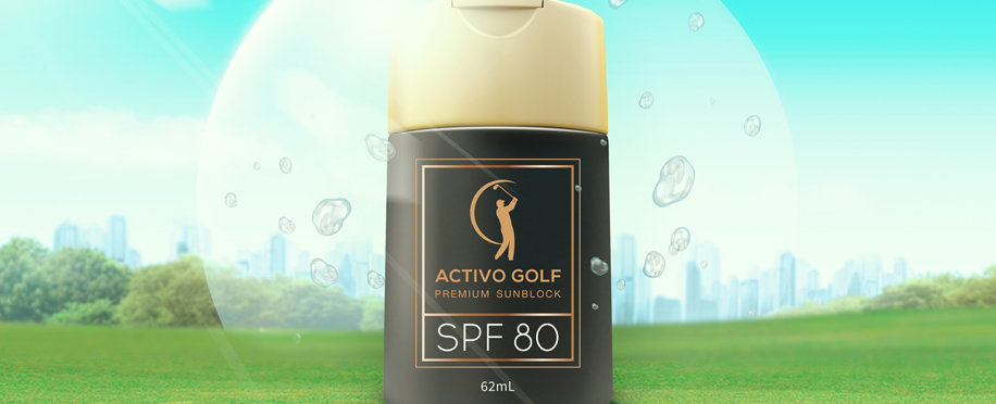 ACTIVO GOLF Premium Sunscreen SPF 80 (62ml)