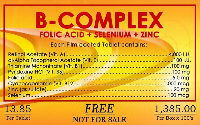 B Complex 100 tablets