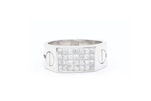 Invisible-Set Diamond Love Ring