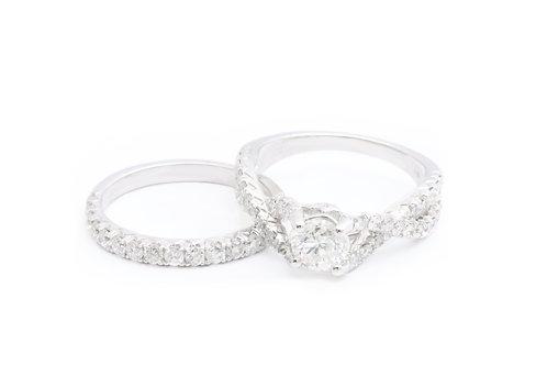0.71ct Round Infinity Bridal Set