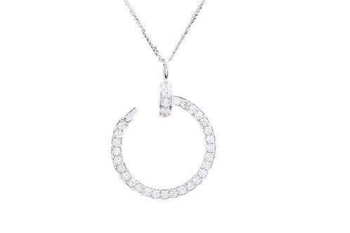 Diamond Nail Necklace