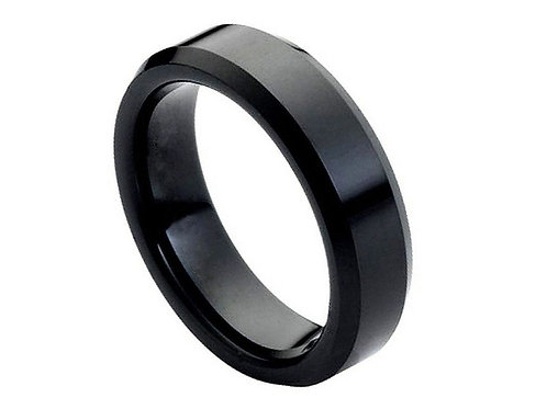 Flat High Polished Black IP Plated Beveled Edge – 6mm