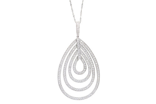 Layered Pave Diamond Necklace