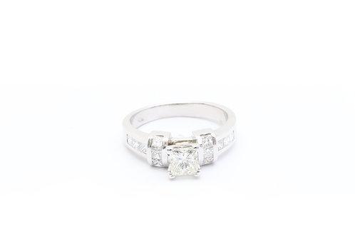 0.75ct Princess Cut Engagement Ring