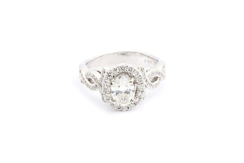 0.72ct Oval Infinity Halo Engagement Ring