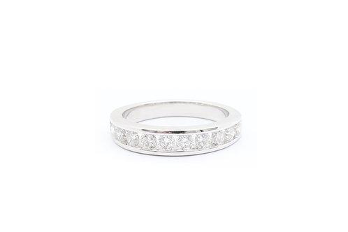 Round Channel Set Diamond Wedding Ring