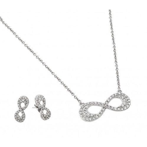Infinity Earrings & Necklace Set