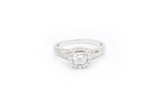 Princess Cut Multirow Engagement Ring