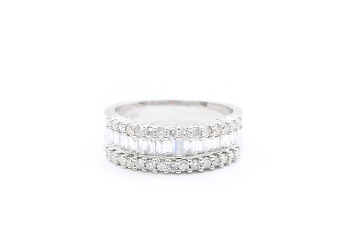 1.25ct Round Baguette Diamond Band