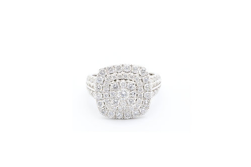 2 ct Round Diamond Cluster Ring