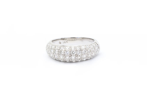 1.00 ct Domed Pave Ring