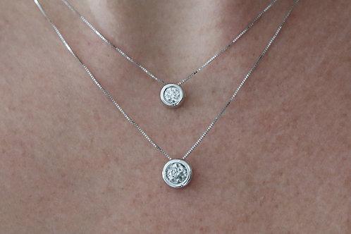 Round Bezel Necklace