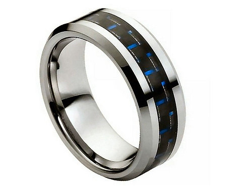Blue Carbon Fiber Inlay – 8mm