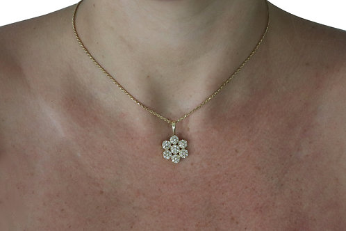Flower Pave Necklace