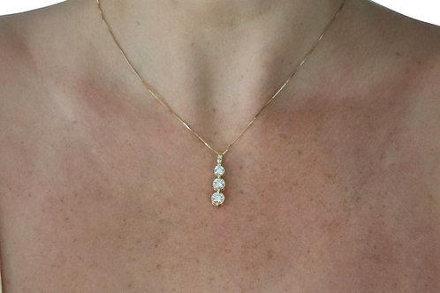 1.40ct Three Stone Diamond Necklace