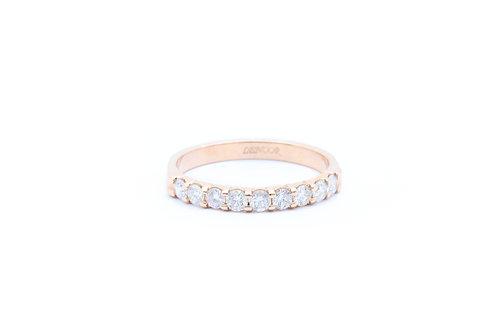 Shared Prong-Set Diamond Band - Rose Gold