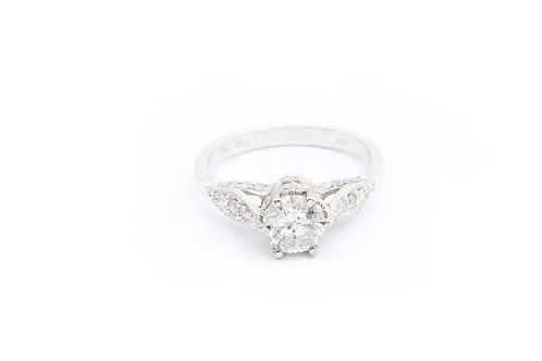1.02ct Round Vintage Style Engagement Ring