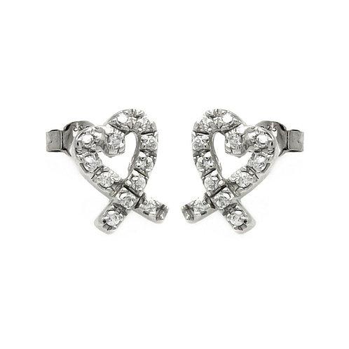 Heart Ribbon Earrings
