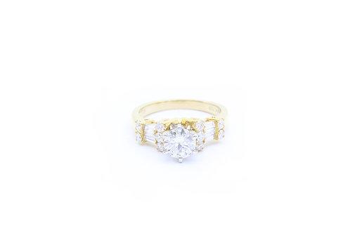0.71ct Round Engagement Ring