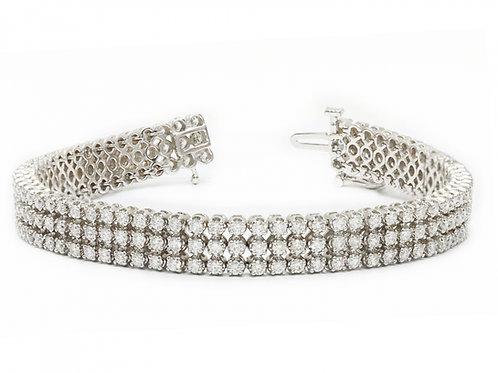 3-Row Line Diamond Bracelet