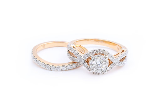 1.60cttw Round Invisible Infinity Bridal Set - Rose Gold