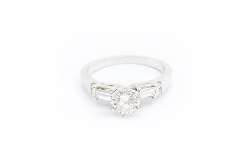 0.85ct Round Engagement Ring