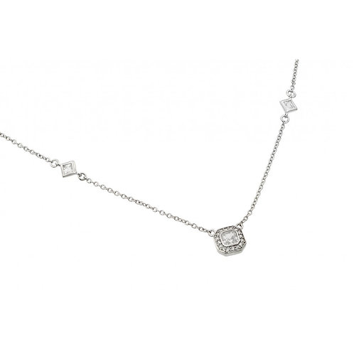 Halo CZ By The Yard Necklace