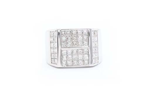 3ct Invisible-Set Diamond Ring