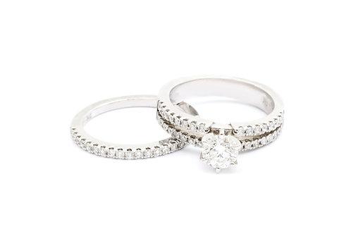 0.75ct Round Cut Bridal Set