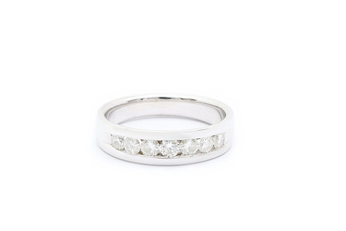 Round Channel-Set Men's Diamond Band