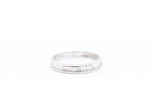 Baguette Channel Set Wedding Band
