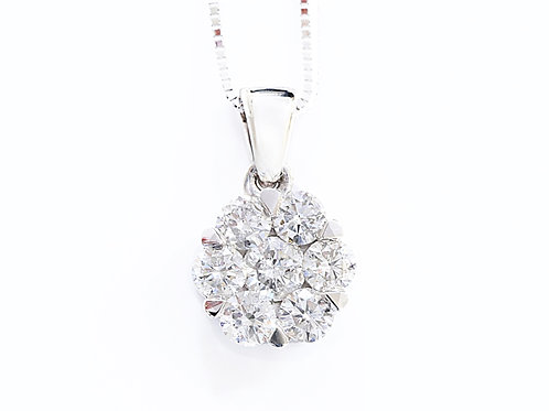 Round Floral Invisible Necklace