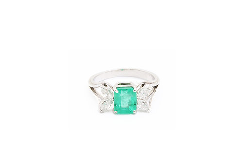 Emerald Butterfly Ring