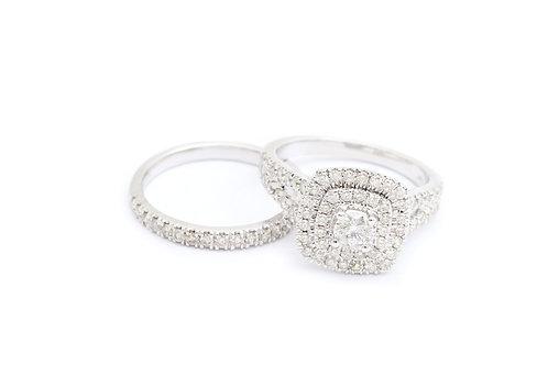 1.50cttw Double Halo Bridal Set