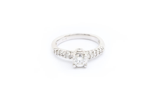 0.55ct Round Pave Engagement Ring