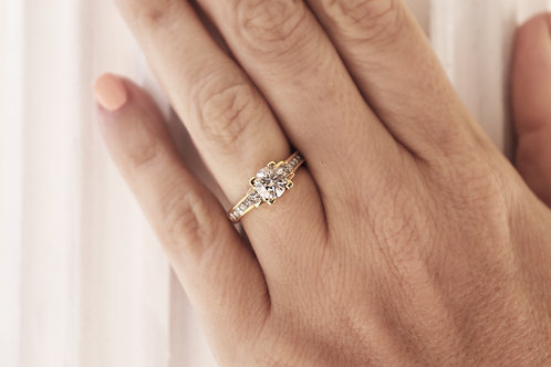1.01ct Round Channel Set Engagement Ring