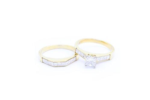 0.65ct Princess Cut Bridal Set