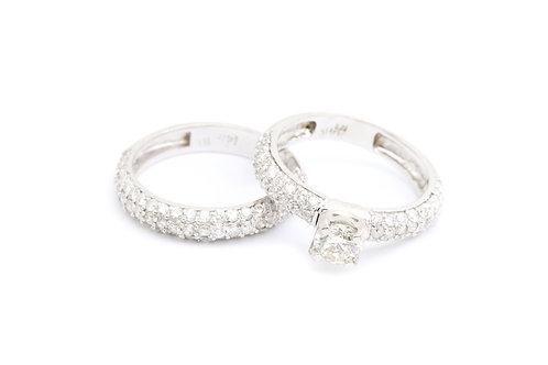 Round Pave Bridal Set