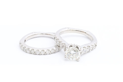 1.01ct Round Cut Bridal Set
