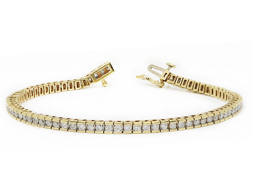 Princess Cut Line Bracelet
