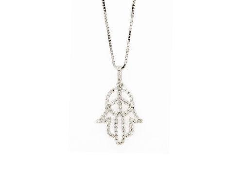 Hamsa Diamond Necklace