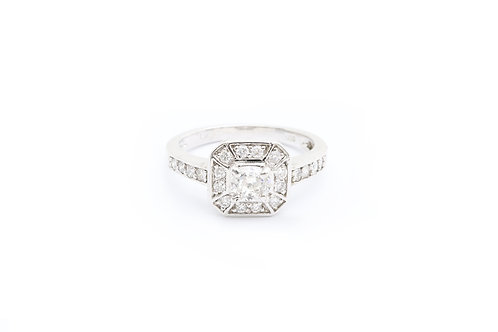 0.50ct Round Halo Engagement Ring